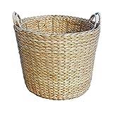 Small Round Water Hyacinth Storage Basket