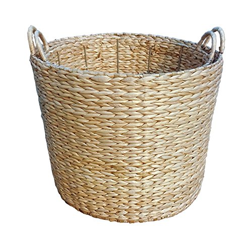 Small Round Water Hyacinth Storage Basket by Red Hamper