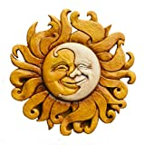 Piazza Pisano Sun and Moon Celestial Wall Decor Plaque