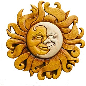 Amazon.com: Large Round Metal Sun Wall Decor Garden Art: Home & Kitchen