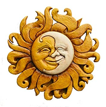 Amazon.com: Sun and Moon Celestial Wall Decor Plaque: Home & Kitchen
