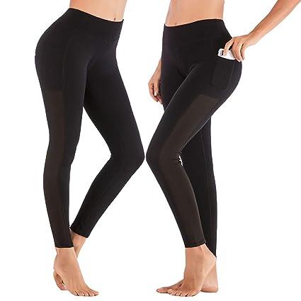 pas cher pour réduction 1b847 05359 SPFAS Pantalons de Course Femme - Leggings de Sport pour Running and Fitness