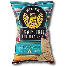 Siete Sea Salt Tortilla Chips, Grain Free, Paleo, Vegan - 5 Ounce (6 Pack)
