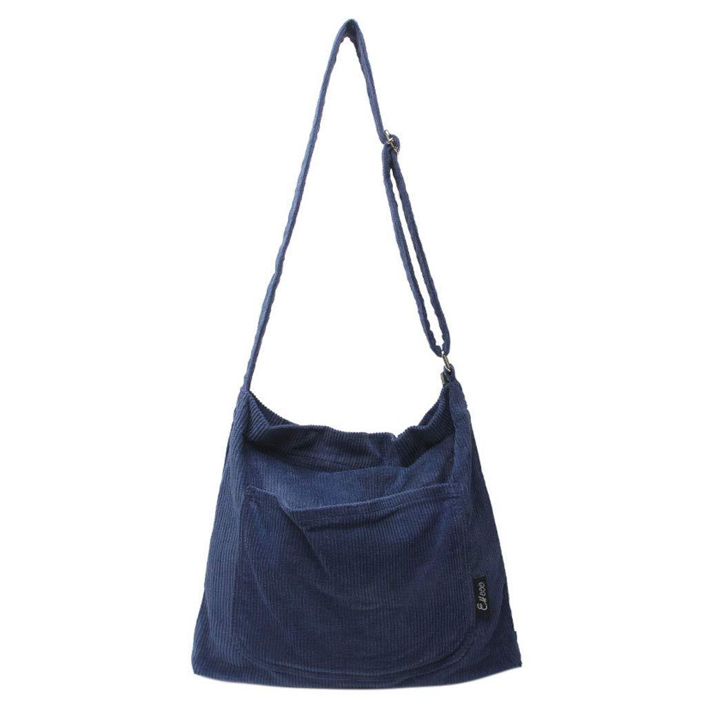 TeemorShop Women Ladies Crossbody Shoulder Bag Tote Messenger Corduroy Satchel Handbag Women Decor Gift
