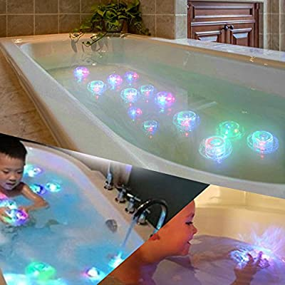 DOOLLAND 3PCS Colorful Funny Baby Childrens Bathroom RGB LED Pool Bath Toy Lamp Funny Bathing Tub Lights Toys for Kids: Home & Kitchen