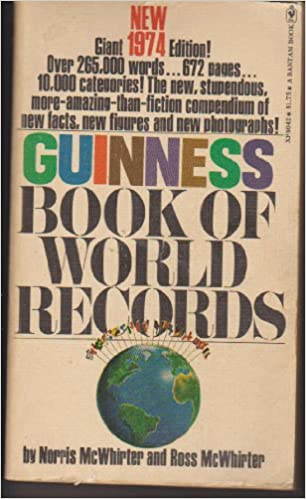 Book Guinness Book of World Records 1974