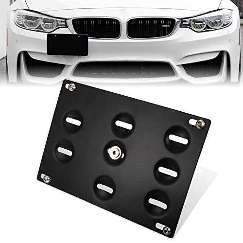 - GTP Front Bumper Tow Hook License Plate Mounting Bracket Holder Relocator for BMW 12-17 F30/F31 3 Series 4DR,14-up F32 F33 F36 4 Series, 11-18 F10 G30 5 Series, Z4,11-17 Mini Cooper F55 F56