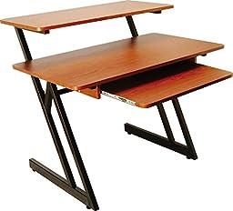 On Stage WS7500 Wood Workstation - Rosewood, Black Steel