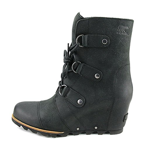 SOREL Damen Joan Of Arctic Wedge Mid Schwarz / Steinbruch