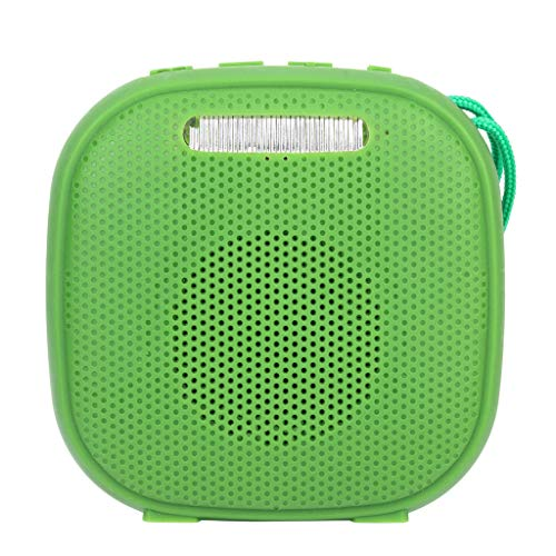 - Mbtaua-Sound HiFi Portable Wireless Bluetooth, Stereo FM Sound with SD Card Slot FM USB Subwoofer Speaker Lighting Lamp Green