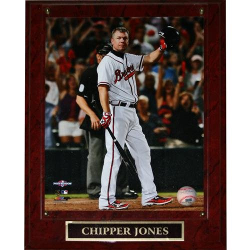 - Chipper Jones Atlanta Braves (Farewell) Licensed 8x10 Photo Plaque