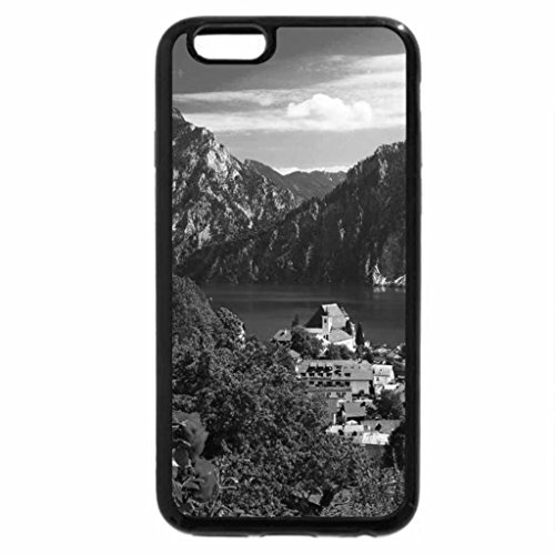 iPhone 6S Case, iPhone 6 Case (Black & White) - Village view
