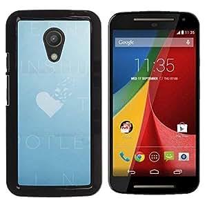 Be Good Phone Accessory // Dura Cáscara cubierta Protectora Caso Carcasa Funda de Protección para Motorola MOTO G 2ND GEN II // Sky Heart Love Cloud Deep Summer