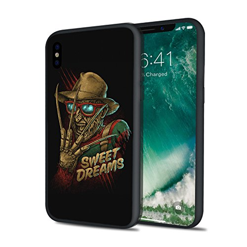 Retro Style Scary Movie Freddy Sweet Dreams Elm Street Nightmare13 Friday Horror Krueger Ultra Slim Clear Soft TPU Transparent Cover Protective Case for iPhone 6 6s 7 8 Plus X - Sweet Retro