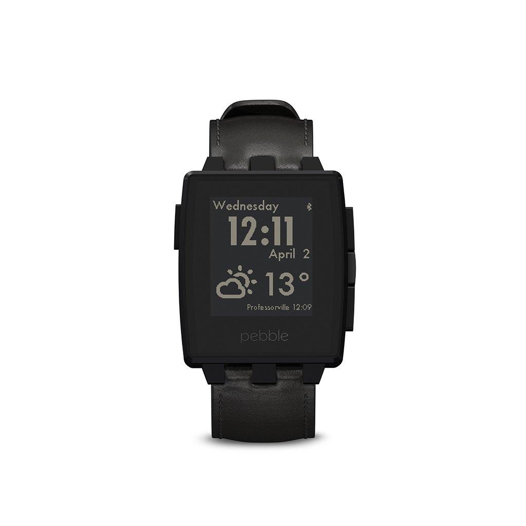 Pebble Steel Smartwatch Black Matte by Pebble
