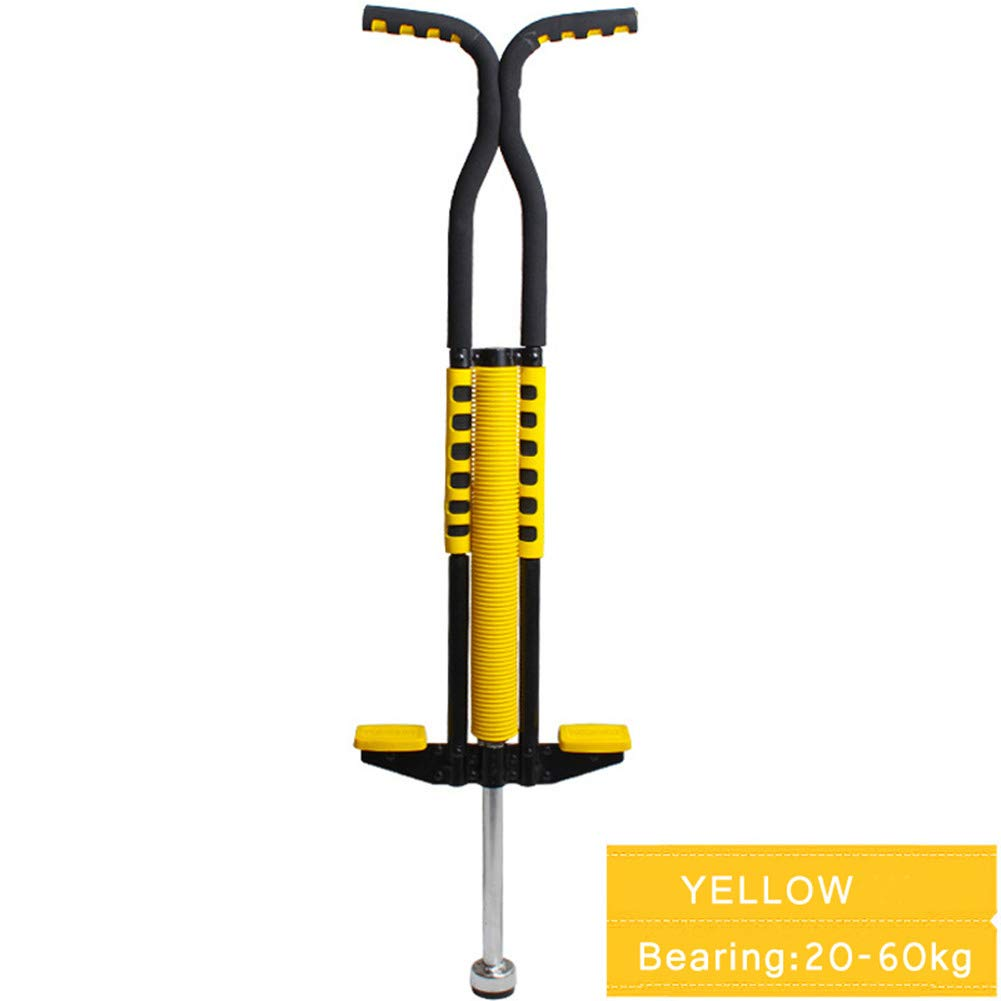 Pogo Stick Spring Rod Bounce Stick Anti-Slip Foam Handle for Children Adults Outdoor Play,Yellow by SVNA (Image #1)