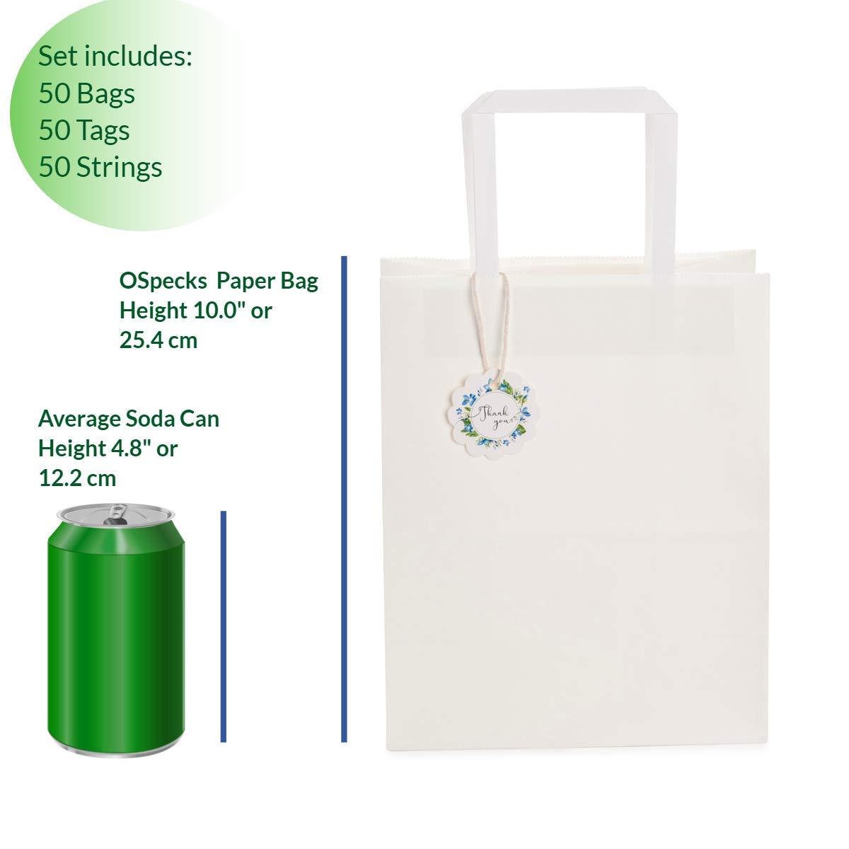 Amazon.com: Bolsas de papel kraft a granel con asas para ...
