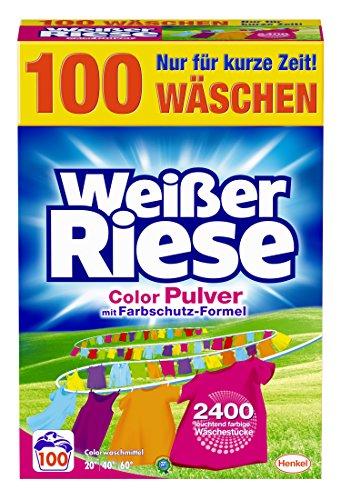 Weißer Riese Color Pulver Waschmittel , 1er Pack (1 x 100 Waschladungen)