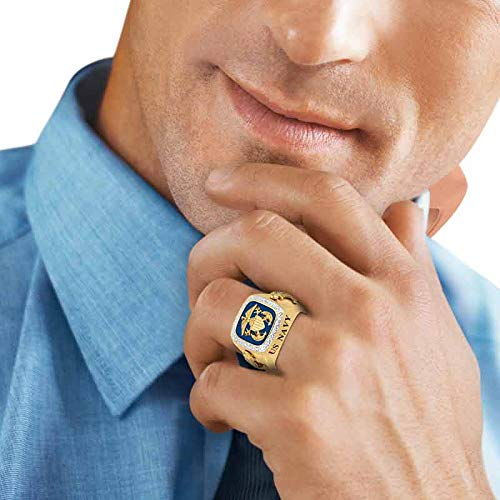 Personalized Men's Military Rings – Army, Air Force, Navy, Marine Corps. – Military Gifts for Men #1660