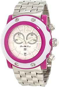 Glam Rock Women's GD1114 Miami Beach Chronograph White Dial Stainless Steel Watch
