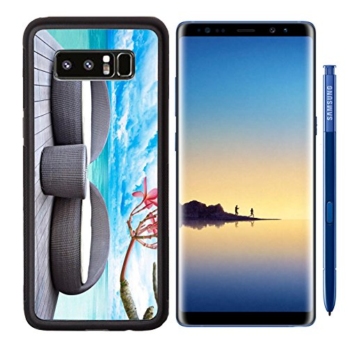 MSD Premium Samsung Galaxy Note8 Aluminum Backplate Bumper Snap Case Rattan seat lounge beside the sea Image 18820060 Customized Tablemats Stain Resistance Collector Kit Kitchen Table Top DeskDrink (Galaxy Lounge)