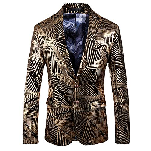 - Men's High-end Floral Printed Modern Slim Fit Casual Jacket Blazer (Floral,XS)