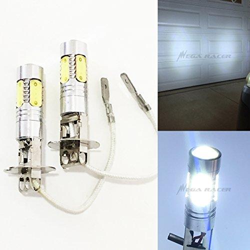 Mega Racer H3 (Fog Light) CREE Q5 LED Projector Plasma Hyper Cool White 6000K 6K Headlight Bulb 12V Xenon Lamp US Seller