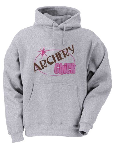 ARCHERY Chick Youth Hooded Sweatshirt (for Kids) ASH GREY MEDIUM
