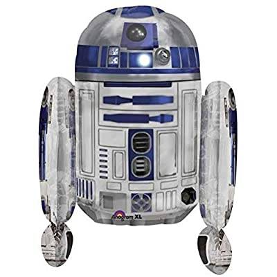 "Single Source Party Supplies 26"" R2-D2 Shape Star Wars Balloon: Toys & Games"