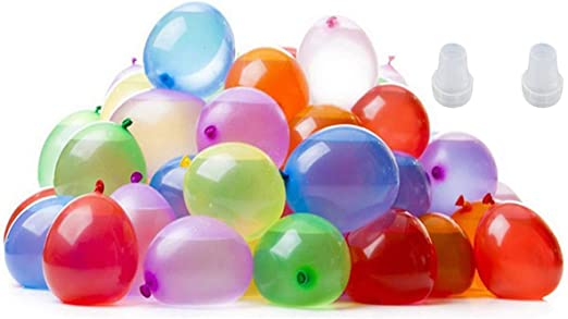 Water Bomb Balloons Games for Kids and Swimming Pool Outdoor Summer Fun 500 Pcs Water Balloons with 2Pcs Water Guns,Self-Sealing Water Balloons Refill Kits