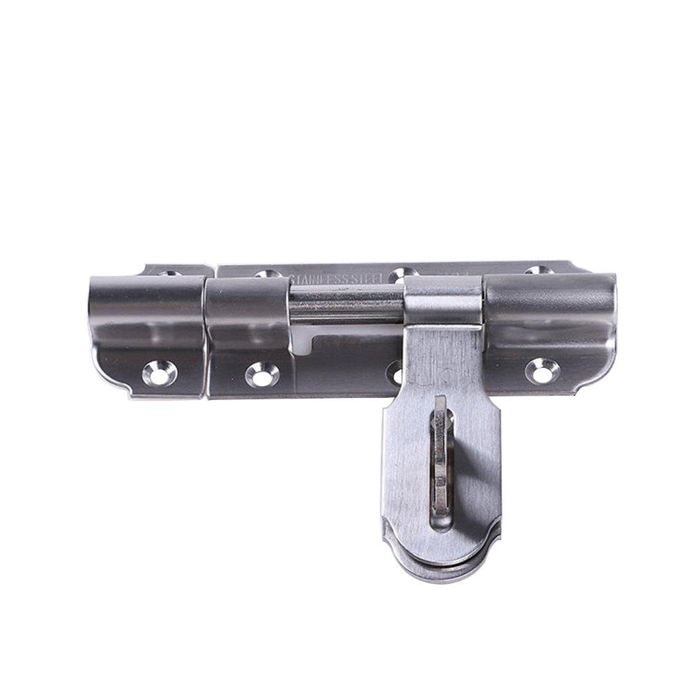 RZDEAL Stainless Steel Door Lock Latch Slide Barrel Bolt,Hasp Lock Latch (7.09''x1.77''/180x45 mm)