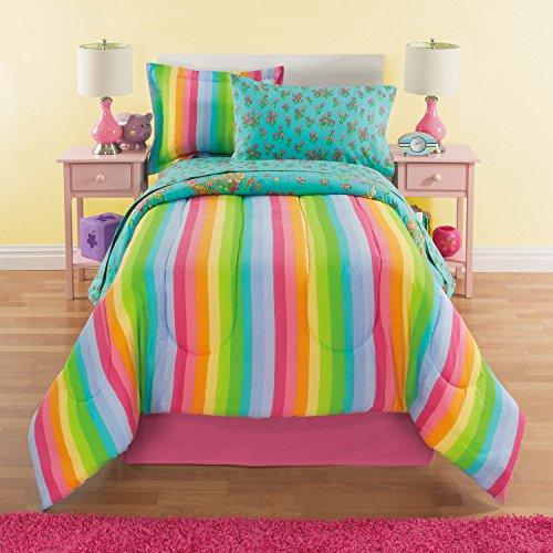 durable service Rainbows & Unicorns Girls Twin Comforter Set (6 Piece Bed In A Bag) + HOMEMADE WAX MELT