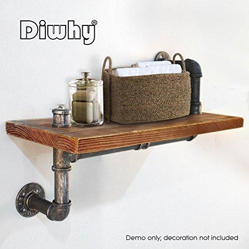 """Diwhy 24"""" Industrial shelf design 1""""X6"""" WOOD"""