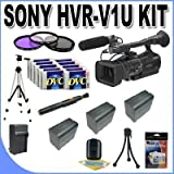 Sony HVR-V1U HDV Camcorder + 3 Extended Life Batteries + Ac/Dc Charger + 3 Piece Multicoated Filter Kit + 10 Dv Tapes + Full Size Tripod + Master Works Producing DVD + Accessory Saver Kit & More!!!