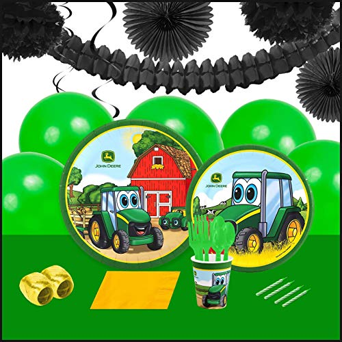 BirthdayExpress John Deere Johnny Tractor 16 Guest Party Pack Deco Kit ()