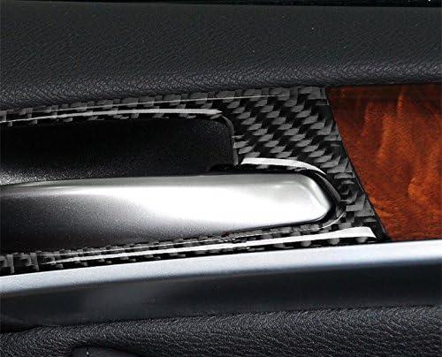 Karbonfaser Innen Autot/ür T/ürgriffmulde T/ürgriff Rahmen Zierleisten 4Stk