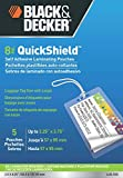 BLACK + DECKER QuickShield  Self-Adhesive Luggage Tag Laminating Pouches, 8-mil, 5 Pack (LUG-5SS)
