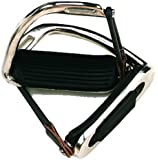 Down Under Saddle Supply Exmoor English Chrome Peacock Safety Stirrups