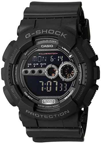 Casio Men's GD100-1BCR G-Shock X-Large Black Multi-Functional Digital Sport - X G Large Shock Casio Watch