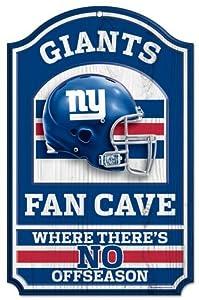 "NFL New York Giants 05922010 Wood Sign, 11"" x 17"", Black"