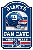 "NFL New York Giants 05922010 Wood Sign, 11"" x 17"", Black"