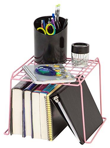 IRIS 8-inch Stackable Wire Locker Shelf, Pink