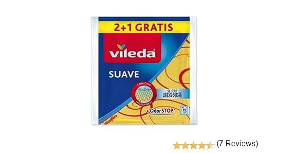 Vileda - Set de 2 Bayetas suaves 30% microfibras + 1 gratis, color amarillo, 35 x 40 cm, 3 unidades: Amazon.es: Alimentación y bebidas