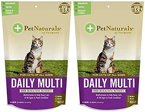 Daily Multi for Cats, Multivitamin Chew Size:Pack of 2