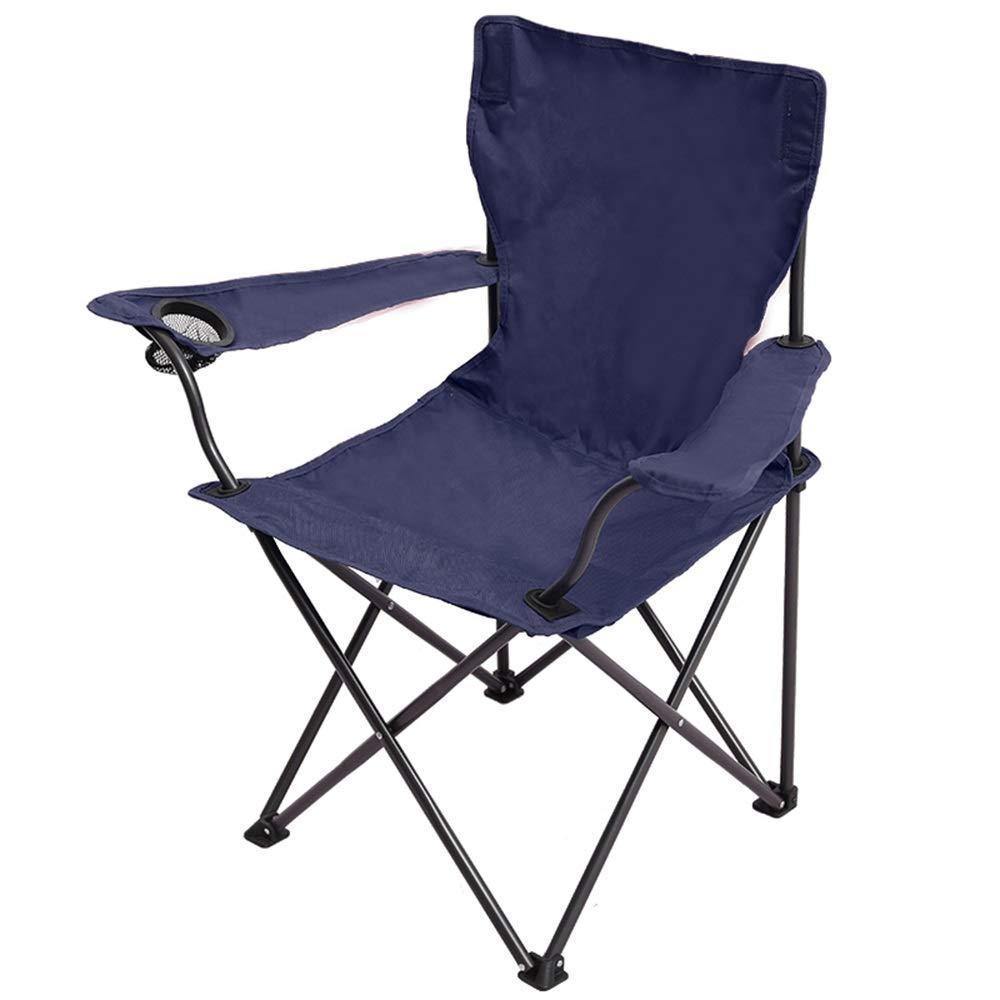 GLZTZ Sedia Pieghevole per Esterni Blu, Sgabello da Pesca Portatile da Campeggio Sedia Pieghevole per Sedie Pieghevole, Formato Aperto  86X56X95CM, Formato Pieghevole  15X16X94CM