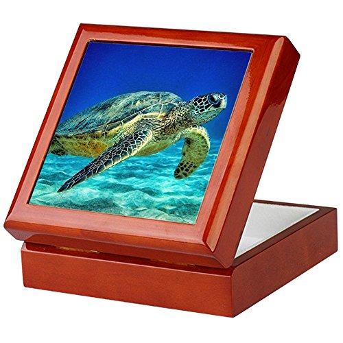 - CafePress - Sea Turtle - Keepsake Box, Finished Hardwood Jewelry Box, Velvet Lined Memento Box