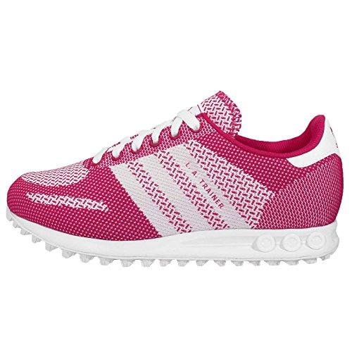 Adidas Women's LA Trainer Weave W, PINK/WHITE, 7.5 US