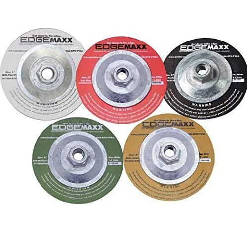 EdgeMaxx 5‑Inch Ceramic Diamond Tooling, Medium, 100 Grit (2 Units)