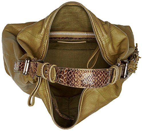 Anuk Green Snake Women's Leather Back Bag Camouflage Shoulder Liebeskind Berlin q6fFwxxE
