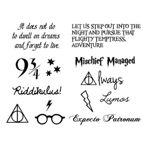 Amazon Com Tattify Harry Potter Temporary Tattoos You Re A